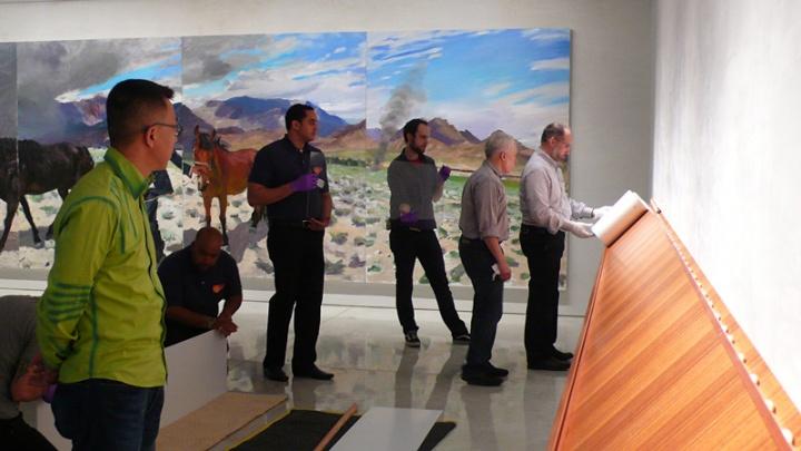 2008年,刘小东在MaryBoone画廊举办了合作后的第一次展览