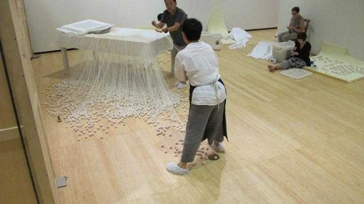 林天苗亚洲艺术协会首次回顾展开幕前夕