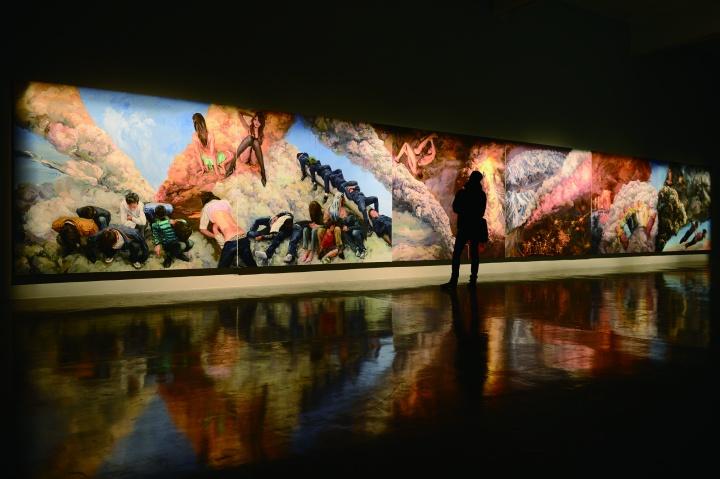 """喻红在长征空间的最新个展""""忧云""""现场图"""
