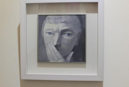 熊宇 《肖像》 2013年 布面油画 40x40cm