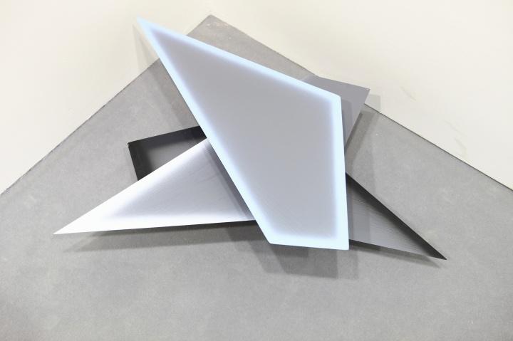 空白空间展位上的李姝睿新作,这位艺术家作品同时出现在了三家画廊的展位
