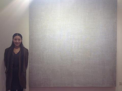 艺术家曹雨和她的作品《画布,130408-130809》