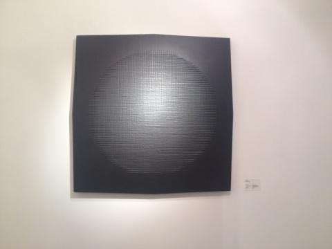 陈彧凡,《情绪-黑》,布面综合技法,104.5×104.5cm,2013