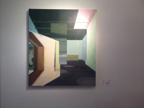 侯勇,《折角-1》,布面丙烯,100×80cm,2013