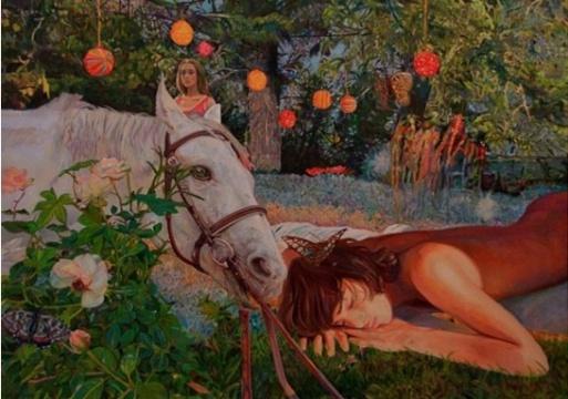 艺术家 刘娜 2013年 布面油画 《柔软时光-梦幻岛-何处解忧伤》
