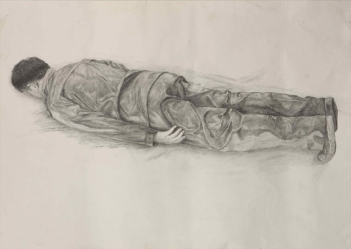 草图1,纸上铅笔,53x38cm,2010