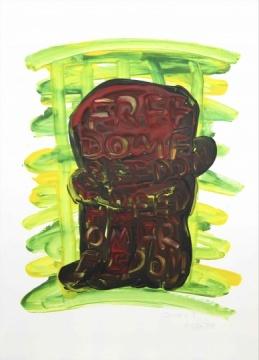 自由A4,纸上丙烯,57.7x41.8cm,2014