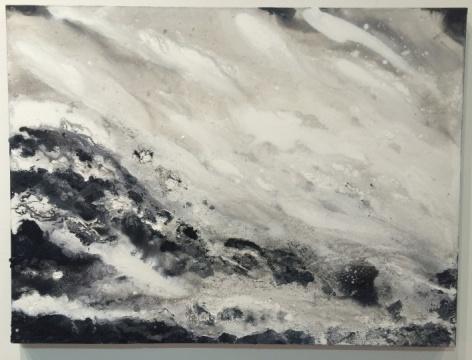 """绘画作品""""风与水"""" 画作描绘出风的呼啸、漂浮。"""