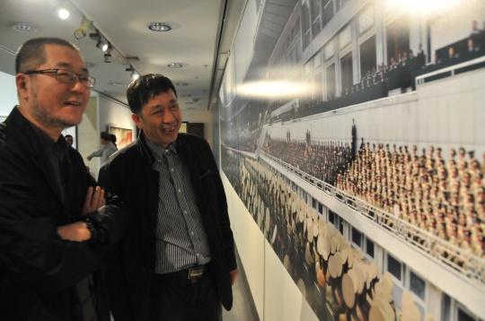 中央美术学院美术馆馆长王璜生与武汉美术馆馆长樊枫