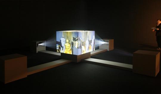 缪晓春《无中生有》 三维影像装置 2011-2012年