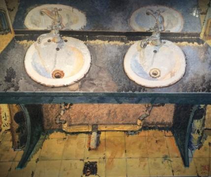《洗手池之二》150x180cm 布面油画 2010
