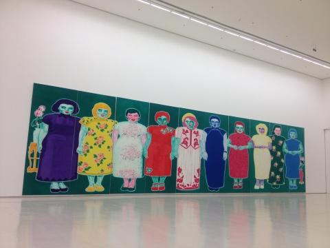 俸正杰波纹画系列的最新大幅创作《十美图》
