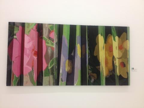 俸正泉作品《我的图像-画》画花却意在尝试加厚笔触的改变