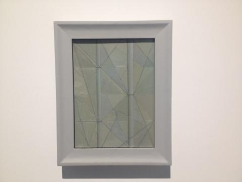 刘野创作于2013年的小幅作品《竹子的构图7号》