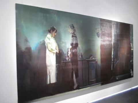 何汶玦的作品《看电影-月牙儿》