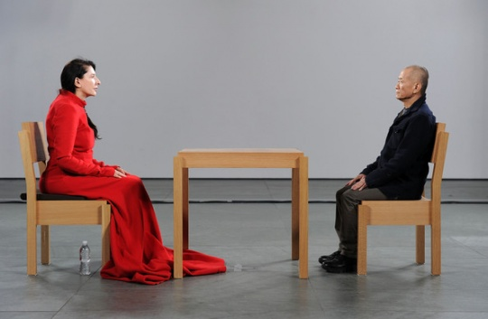 """""""The Artist Is Present,"""" 2010, at MoMA"""