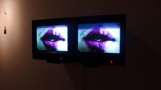 郭熙《存放信仰的身体》录像,装置 2 分钟 2014