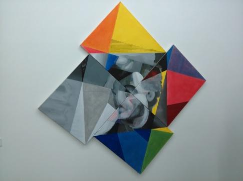 简策《A-D》60 x 50cm x 4 布面综合材料 2013