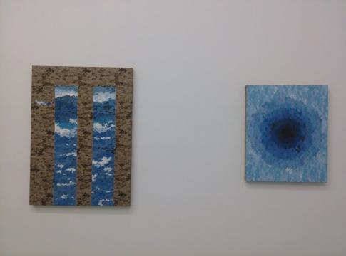 邓猗夫的抽象画作《未曾发生》、《哒哒》