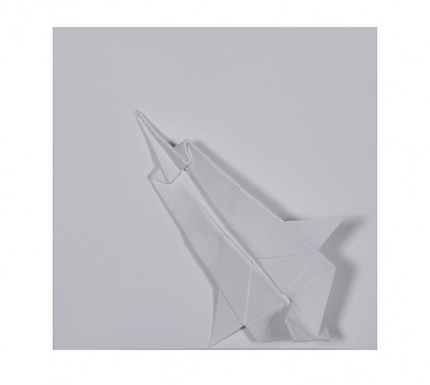 折画面71(飞机 ) ,20×20×8cm, 丙烯材料,2014