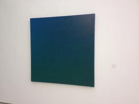 张雪瑞 《400格蓝绿》 布面丙烯 140x140cm 2010
