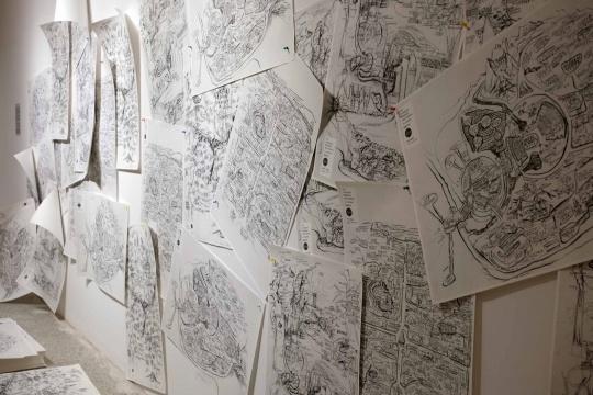 邱志杰 《第九届上海双年展地图》 87.5x57.5cm 纸本绘画 打印 2012