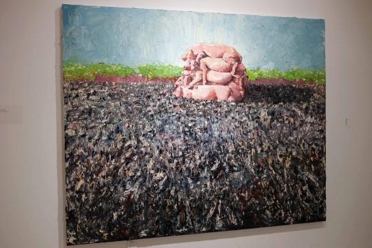 左小祖咒《财富》 200x250cm 布面油画 2014