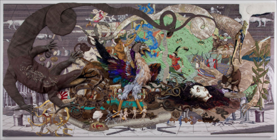 Xu Zhen, Produced by MadeIn, Fearless, 2012, Mixed media on canvas, 124 716 x 253 1516 in. (316 x 645 cm)  © Xu ZhenMadeIn, Courtesy of Long March Space, Beijing