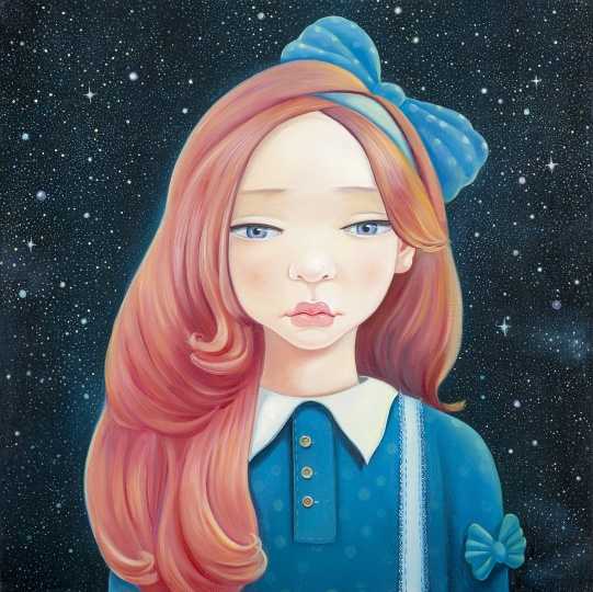 《星空》 50 x 50cm 布面油画 2013