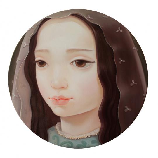 《Miss III》 Diam.40cm 布面油画 2014