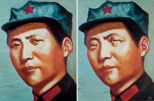 02  李青  b.1984年  成交总额: 355万  最高单价: 71.3万  《毛主席像》  北京匡时
