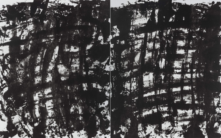 《拉赫马尼诺夫〈第二钢琴协奏曲〉布上之三》布面丙烯 320x200cm 2014