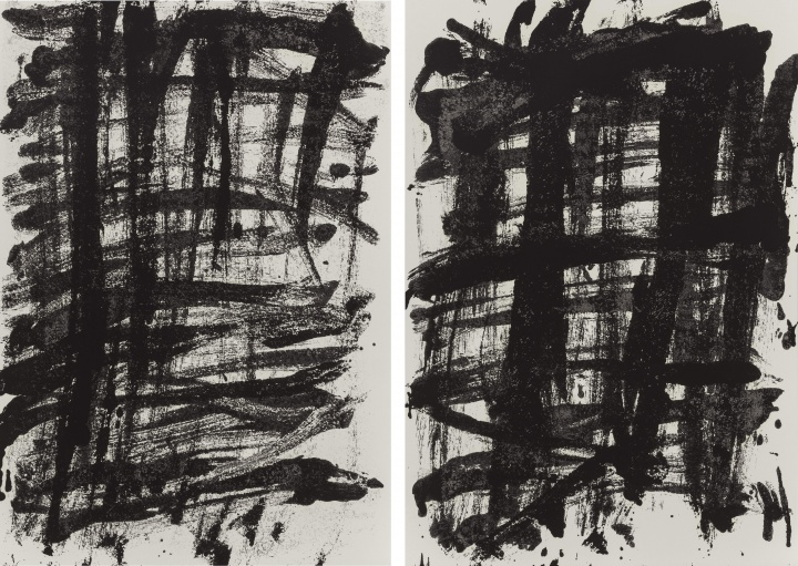 《拉赫马尼诺夫〈第二钢琴协奏曲〉纸上之二》,纸上油画,54.6x78.7cmx2,2014