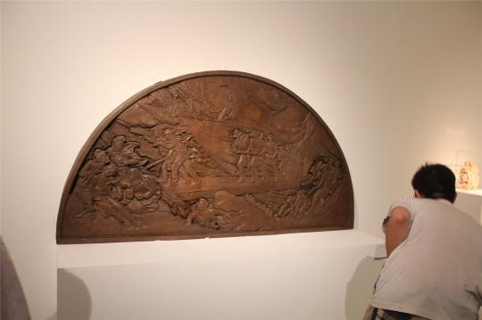 中央美术学院校尉胡同陈列馆浮雕带中的作品