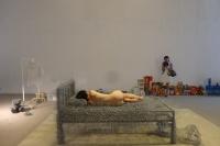 """周洁""""36天""""裸登北京现在画廊,黄燎原,周洁"""