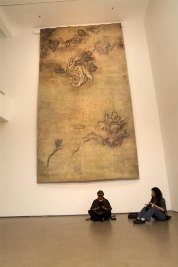 """去年10月,李曦个展""""变生""""在今日美术馆展出"""