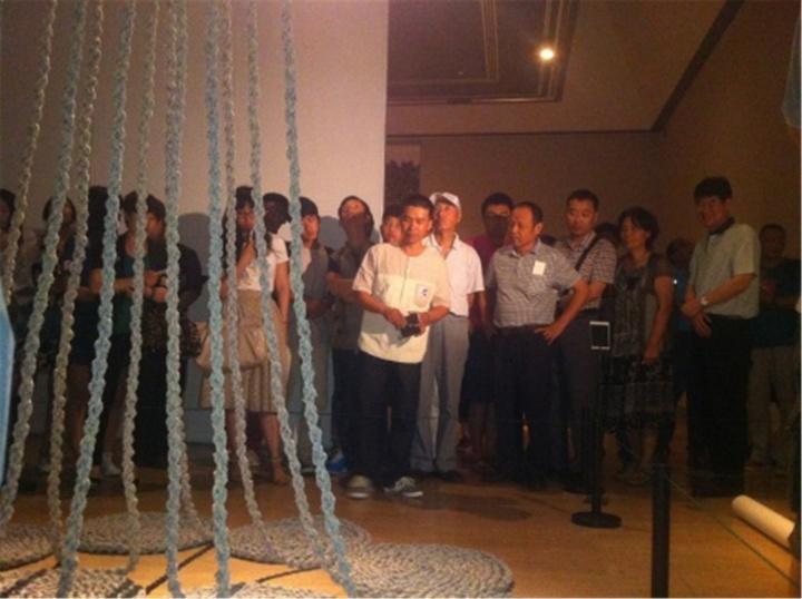 """由吴洪亮策划的""""爻--王雷2013年1月1日至12月31日""""在中国美术馆展出"""