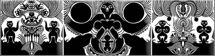《天地合.万物生》 ,剪纸,1985年