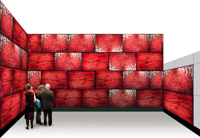 2005年,《人墙》装置在香港油麻地展出。