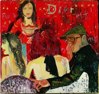 《party 动物 3》 油画 210x200cm 2008