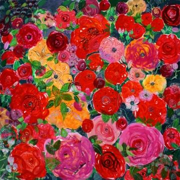 《感时花溅泪-1》布面油画 200×200cm 2012