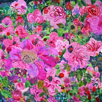 《感时花溅泪-2》布面油画 200×200cm2012