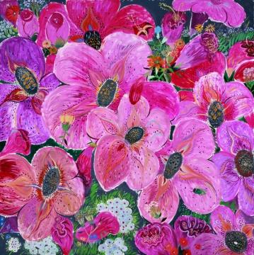 《感时花溅泪-4》布面油画 200×200cm2012