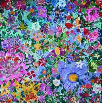 《感时花溅泪-7》布面油画 200×200cm2012