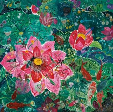 《感时花溅泪-10》 布面油画 200×200cm2013