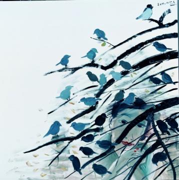 《晚来风急》 布面油画 200×200cm2011