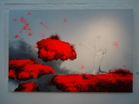 武明中《天上人间 二》200X300cm 布面油画 2013