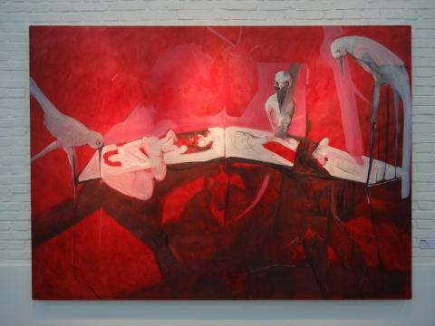 任思鸿《色道》250X180cm 布面油画 2014