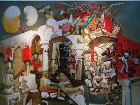 宋永平《人类的风景》200X150cm 布面油画 2012