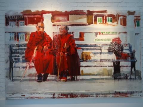 何文玦《日常影像喇嘛》200X130cm 布面油画 2014